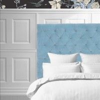 TAUPE diamond upholstered luxury velvet headboard