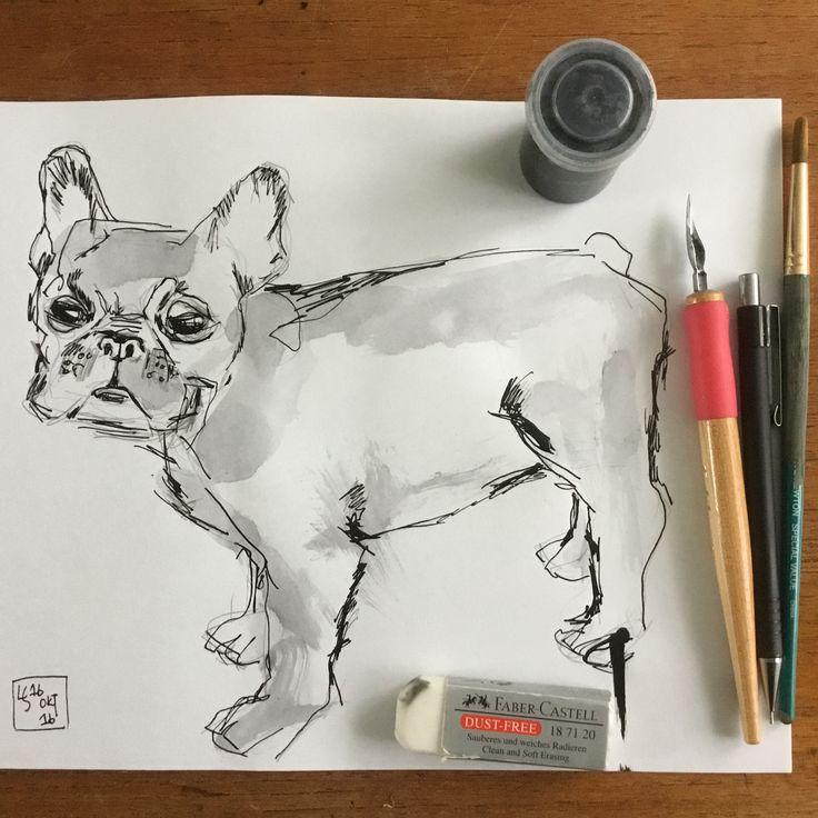 #inktober 16. Okt 'hund' Louise Steffensen