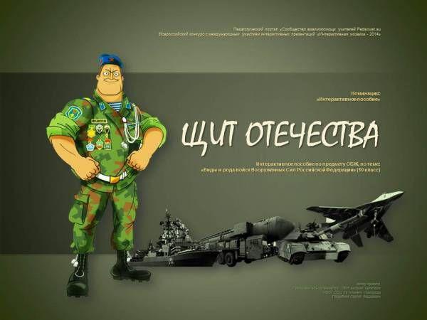 """Интерактивное пособие """"Щит Отечества"""""""
