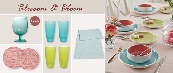 Blossom and Bloom tableware...a prefect way to compliment your food.