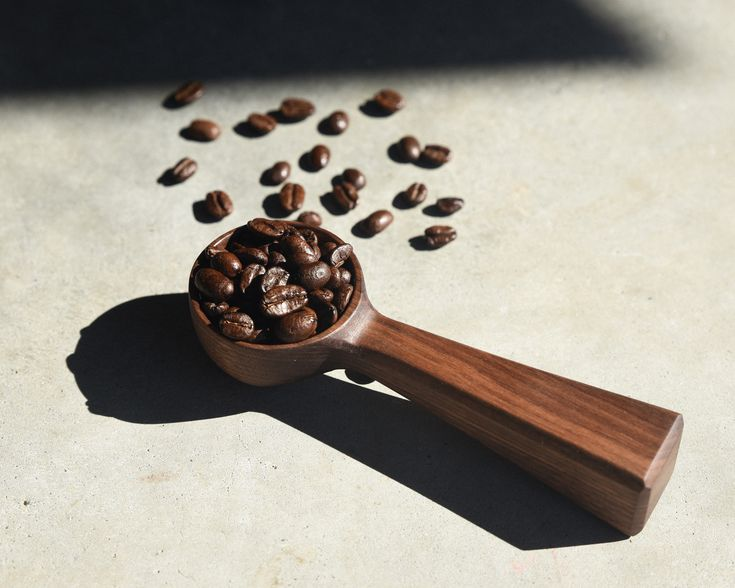 Great coffee scoop. Can also be used for rice and grains.  Finished with food-safe oil & organic beeswax. Hand burnished.