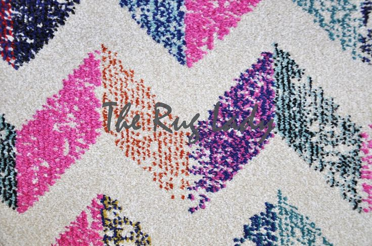 Vibrant Rainbow Chevron Zigzag - The Rug Lady Australia