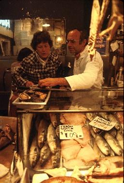 Julia Child at Pike Place Market, 1978