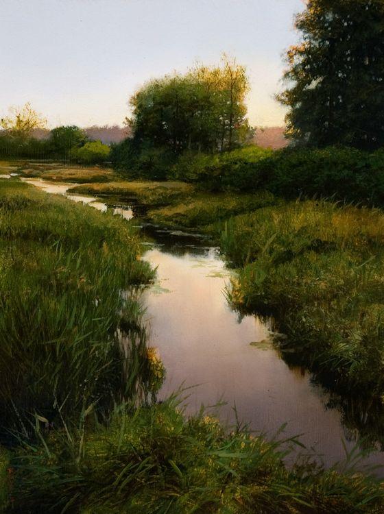 """South of Lougheed,"" by Renato Muccillo 9 x 12 - oil $1400 Custom framed"