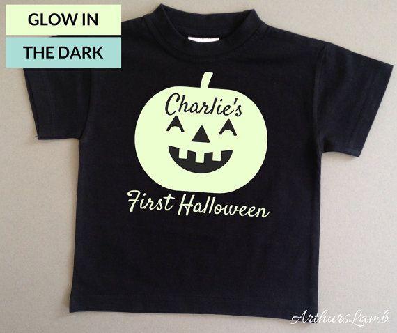 First Halloween,First Halloween Outfit,Glow in the Dark,First Halloween Costume,First Halloween Boy,Pumpkin Shirt,Baby Halloween Costume