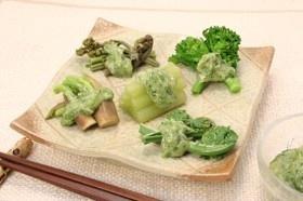 和野菜の磯マヨネーズかけ
