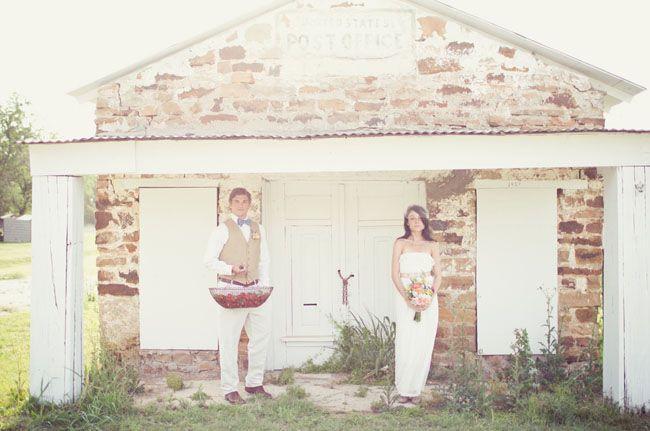 Little stone building - Texas Apple Pie Wedding Inspiration: Wedding Inspiration, Stones Building