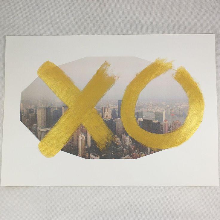 XO gold/NY print