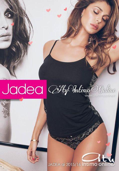 Jadea. La femminilità espressa da Jadea Chic con la nuova collezione moda ed il bellissimo pizzo rete applicato al top spallino sottile e slip sempre in pizzo rete frontale.  #jadea #moda #chic   http://www.atyintimoonline.it/intimo-jadea/4114-completino-intimo-jadea-4391.html