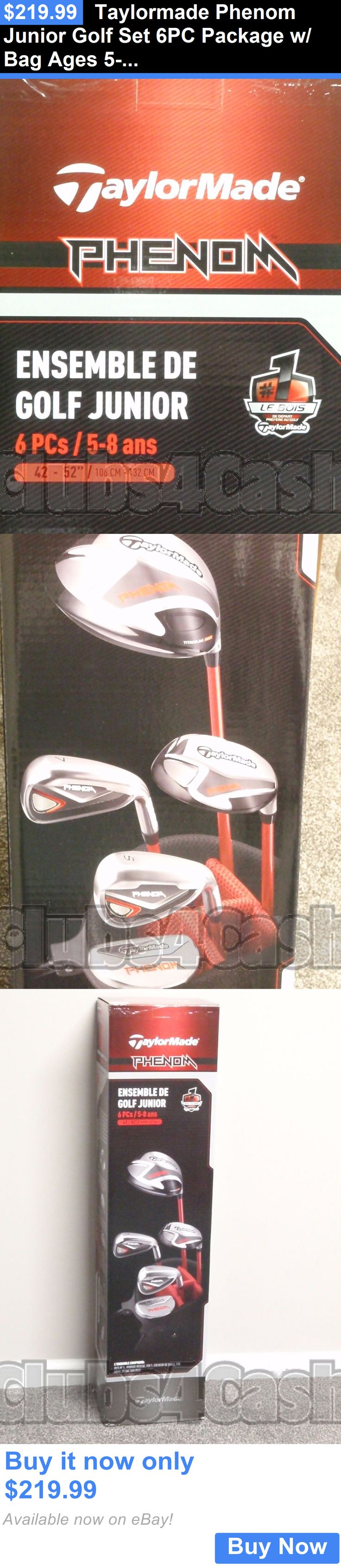 sporting goods: Taylormade Phenom Junior Golf Set 6Pc Package W/ Bag Ages 5-8 New In Box BUY IT NOW ONLY: $219.99