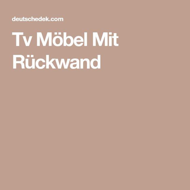 Tv Möbel Mit Rückwand