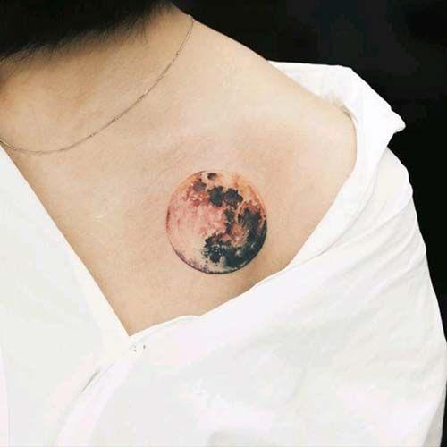 Best 25 realistic moon tattoo ideas on pinterest moon for Goodnight moon tattoos
