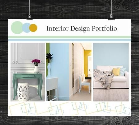 interior design portfolio cover page - Interior Design Pages