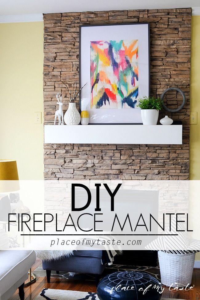 DIY FIREPLACE MANTEL 131 best Mantel Ideas