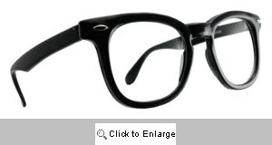 Charlie Thick Round Wayfarer Glasses - 151 Black
