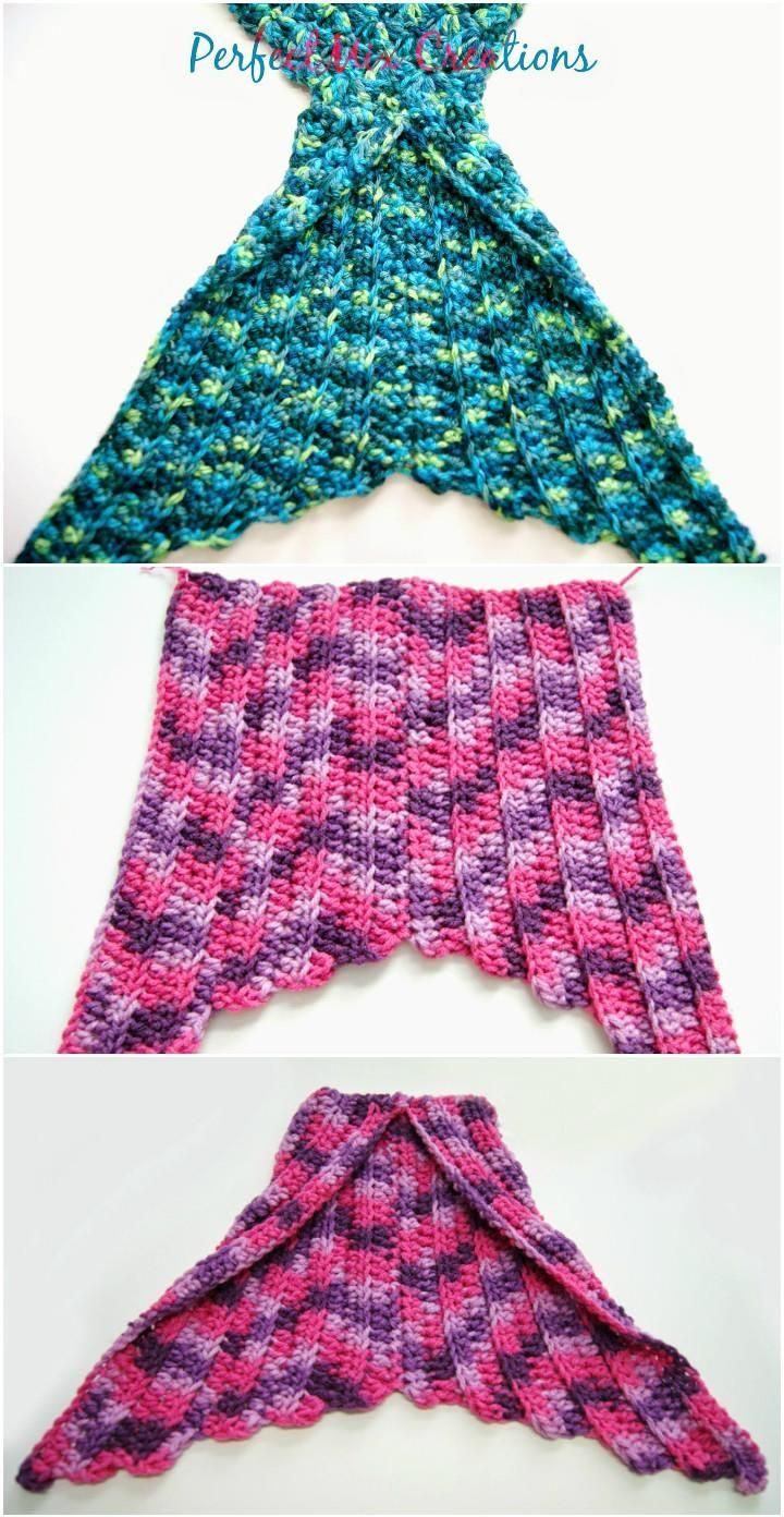 22 Free Crochet Mermaid Tail Blanket Patterns - DIY & Crafts