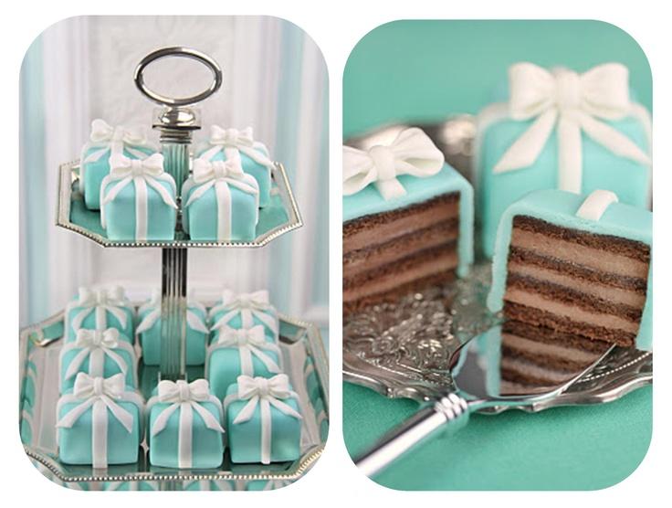Tiffany's mini cakes... absolutely gorgeous <3