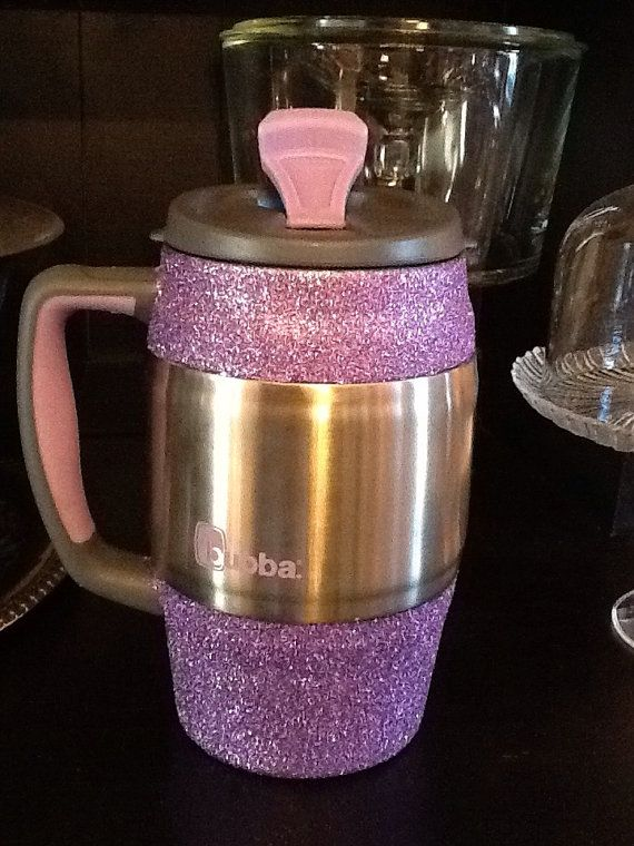 Glittered Insulated Mug / Bubba Keg purple by SparkleHeadToToe