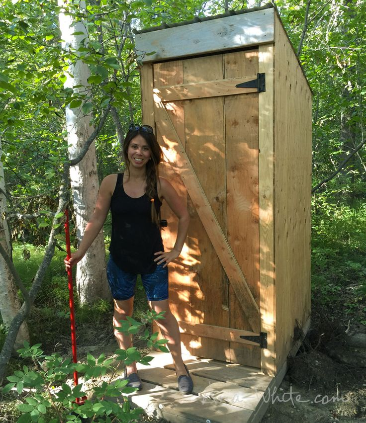 Simple Outhouse Composting Toilet Plywood Siding Roof