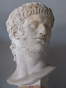 Nero (Latin: Nero Claudius Caesar Augustus Germanicus;[2] 15 December 37 – 9 June 68)[3] was Roman Emperor from 54 to 68, and the last in the Julio-Claudian dynasty. Nero was adopted by his great uncle Claudius to become his heir and successor, and succeeded to the throne in 54 following Claudius' death.