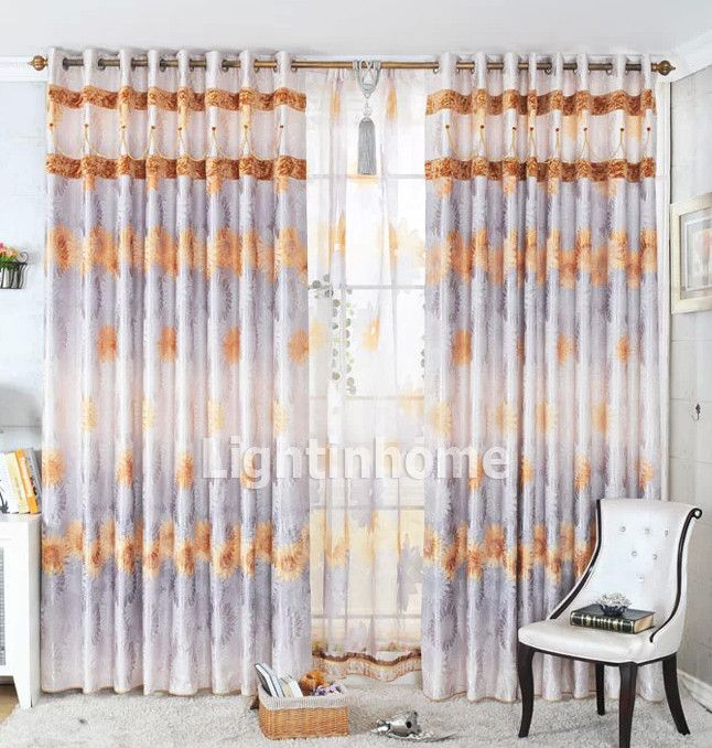 Decorative Patterned Best Silver And Orange Modern