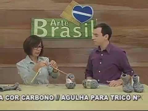 ARTE BRASIL - CLAUDIA MARIA - SAPATO DE QUARTO EM TRICÔ (19/08/2011)