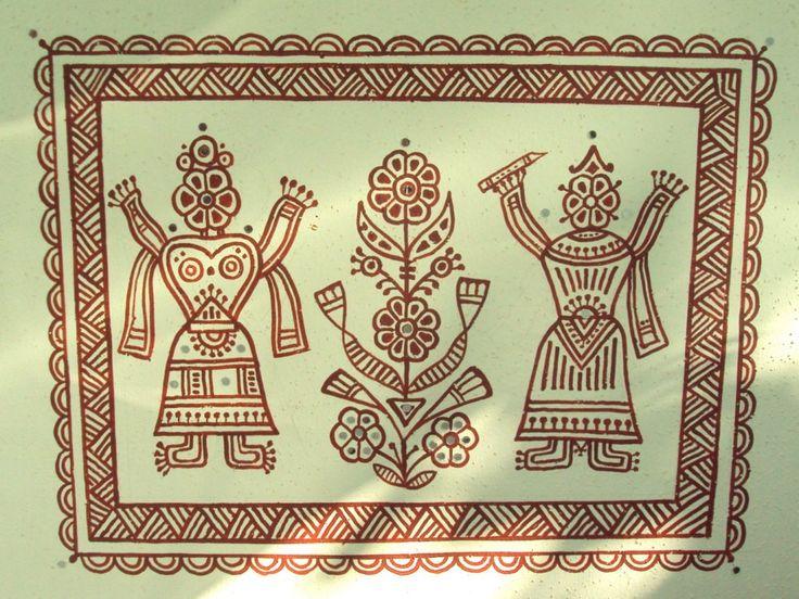 16 best bhitt chitra images on Pinterest   Indian folk art, Indian ...