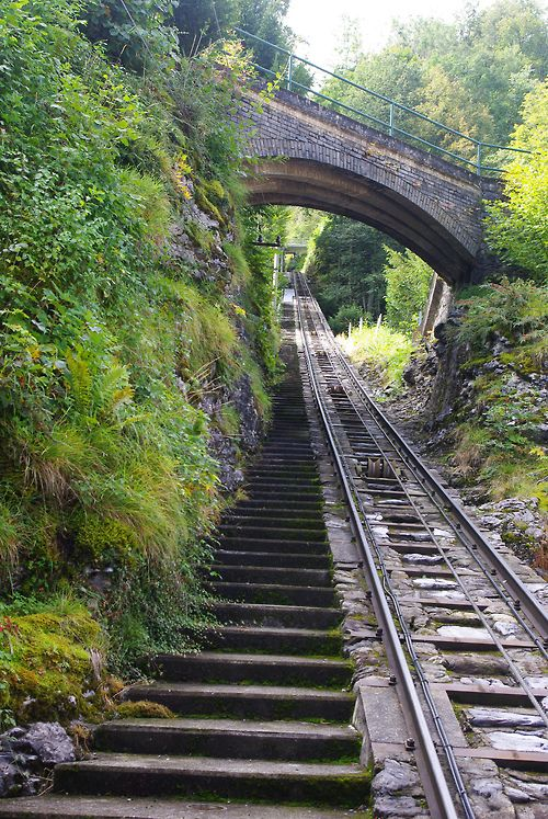 Walkway and railway