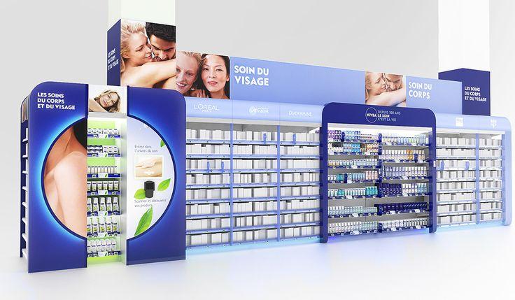 Nivea - Shelves display on Behance