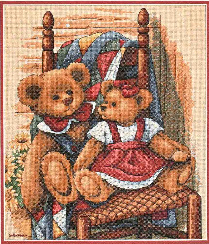 Набор для вышивания Dimensions 35103 Teddies on Quilt Тедди на квилте