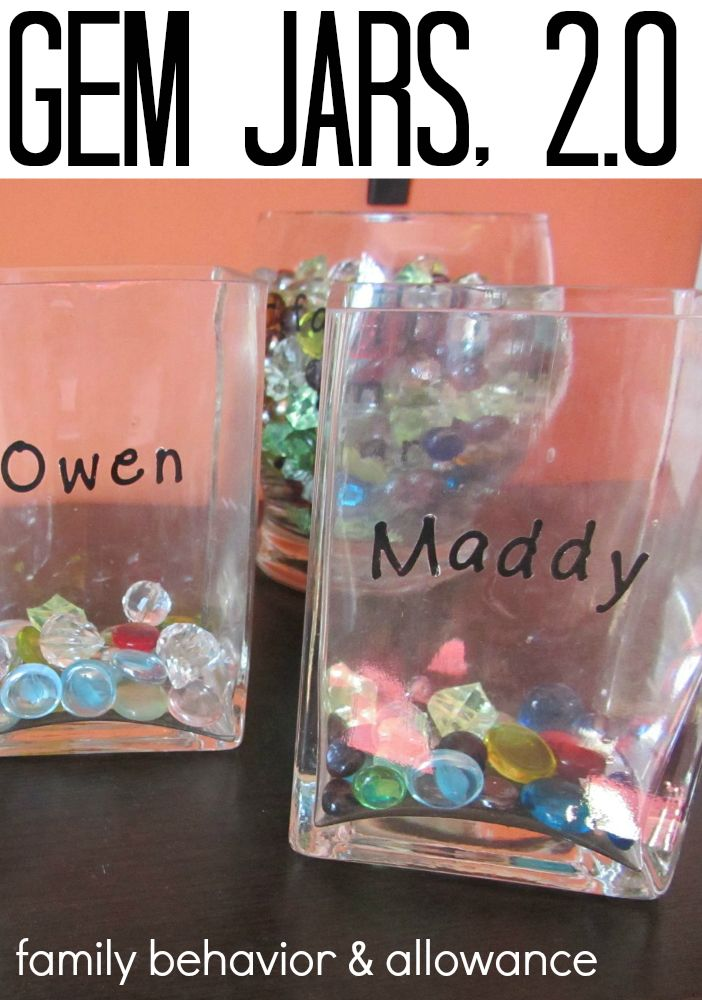 Gem Jars 2.0 -- way for family to manage behavior, chores, allowance, and more at home | teachmama.comBehavior Rewards, Behavior Management At Home, Chore System, Behavior System, Gem Jars, Kids Allowance Ideas, Jars 2 0, Behavior Ideas For Home, Rewards System
