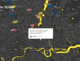 La mappa dei vaff***ulo! per gli scioperi nel metro di Londra.