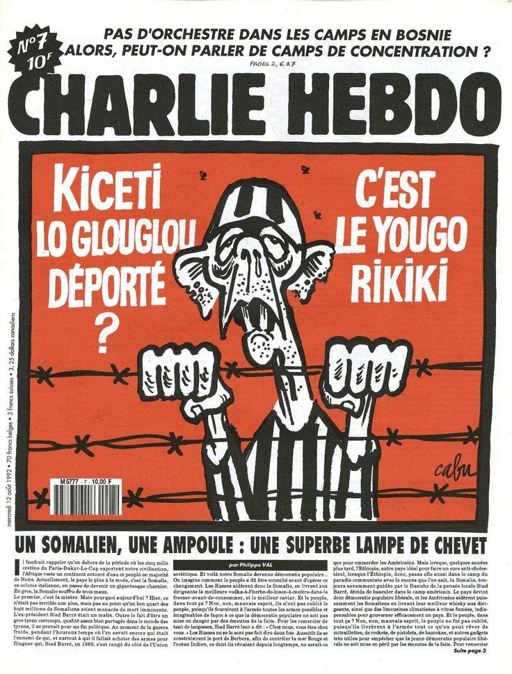 Charlie Hebdo - # 7 - 12 Août 1992 - Couverture : Cabu