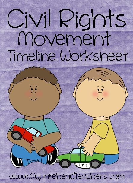 Squarehead Teachers: Civil Rights Timeline Worksheet for Kids (Free printable with answer key)