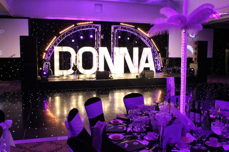 Donna Mortimer Ball. LED dance floor. LED pixel tube centre pieces.
