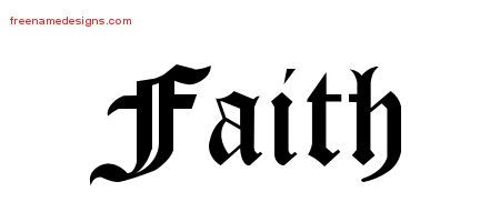 ... Name Tattoo Designs Faith Graphic Download - Free Name Designs