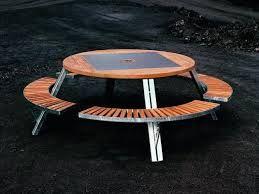 Resultado de imagen para arboles en jardines rodeado de mesa y asiento