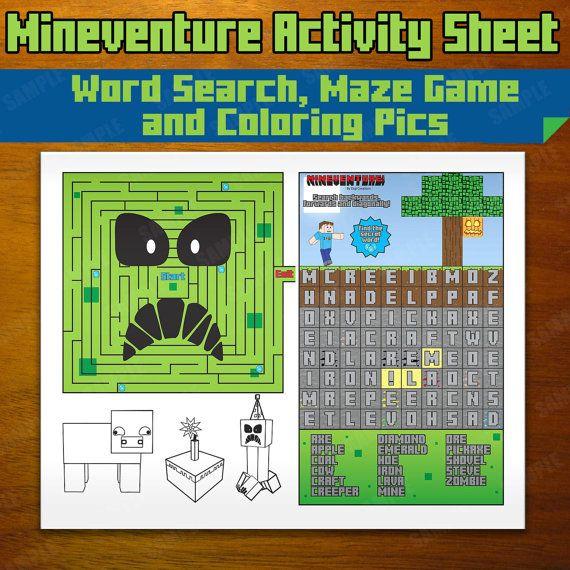 Mineventure Activity Sheet Instant