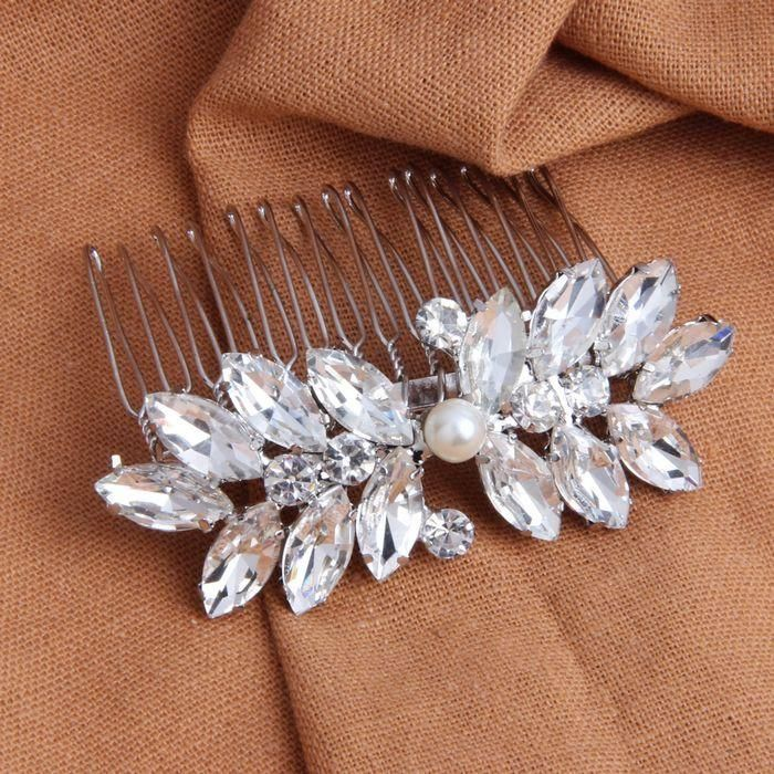 Crystal Hair Comb For Bridal Hair Up Do