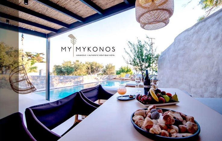 Poolside treats for those care-free summer evenings at @MyMykonos!