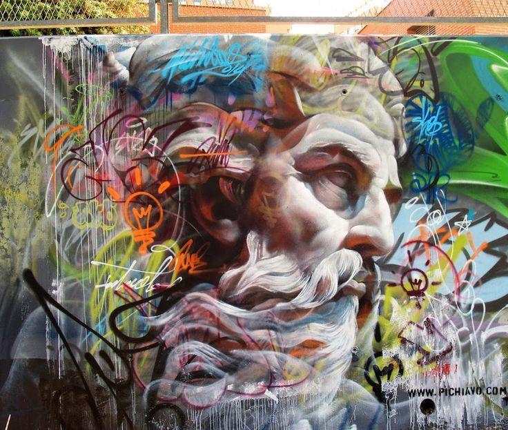Pichi and Avo #ravenectar #streetart #art #graffiti