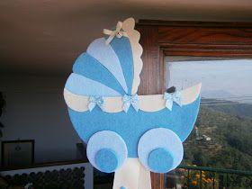Ciao ragazze!   Vi faccio vedere il fiocco nascita che ho creato per il mio nipotino:        Una carrozzina in feltro!!!         Ho cercato...