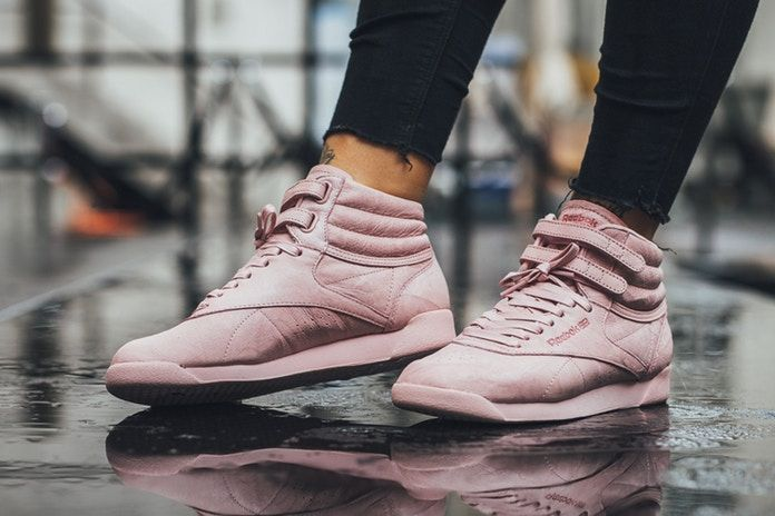 "Reebok Covers The Freestyle Hi In ""Polish Pink"""