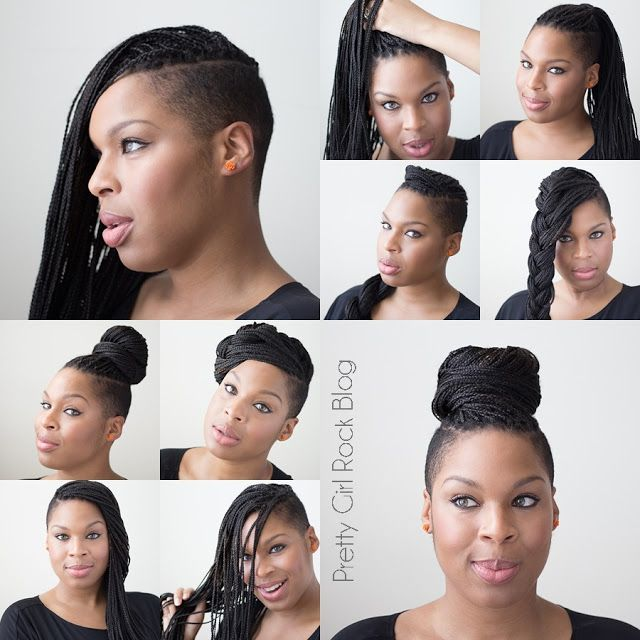 Natural Hair - braids - protective style - shaved sides - formerly Pretty Girl Rock | A Lifestyle & Beauty Blog