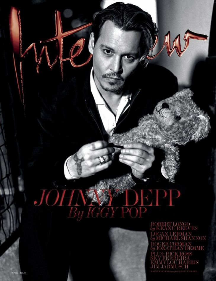 Johnny depp for interview by bruce weber