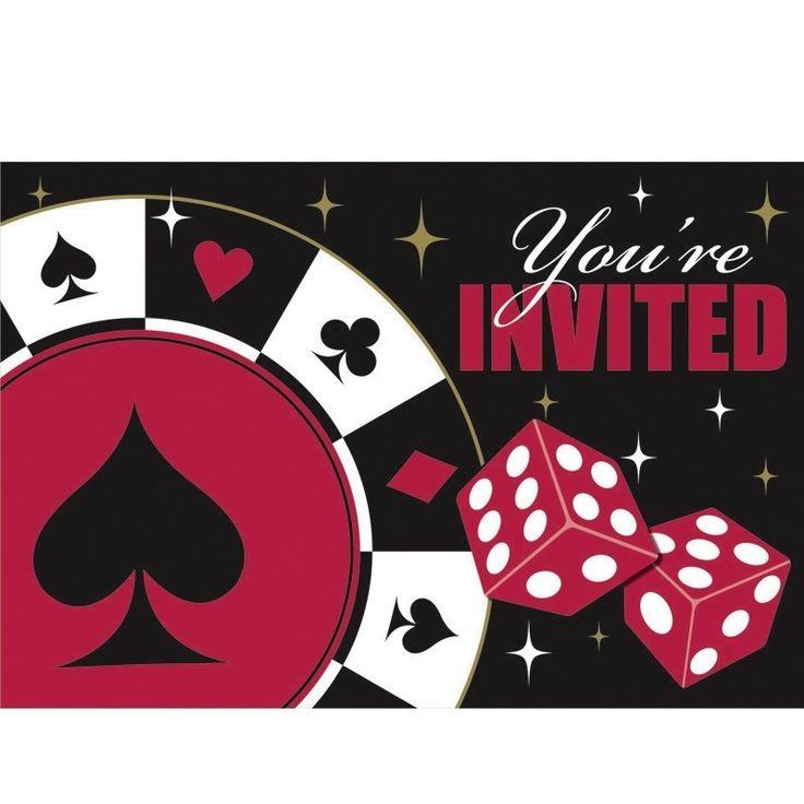einladungskarten casino