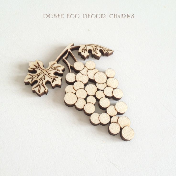 Charming laser cut wood GRAPE / Grapes / Grape charms / Grape decor / Best selling items / Most popular item / Laser cut wood /Wood ornament by DosheEcoDecorCharms on Etsy