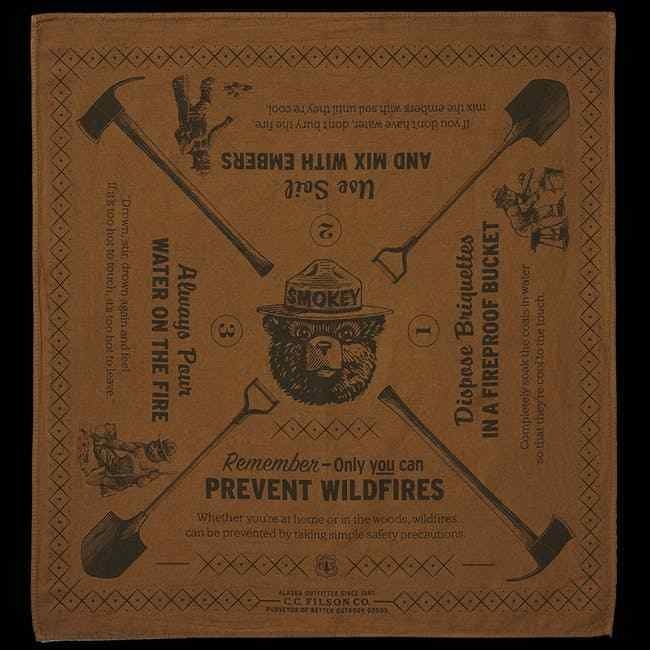 FILSON USFS Forest Service Smokey Bear Bandana- Sold out LIMITED EDITION