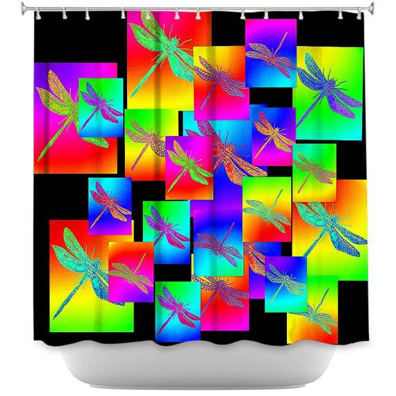 dragonfly dragonflies shower curtain curtains art by TheCateEscape, $104.24