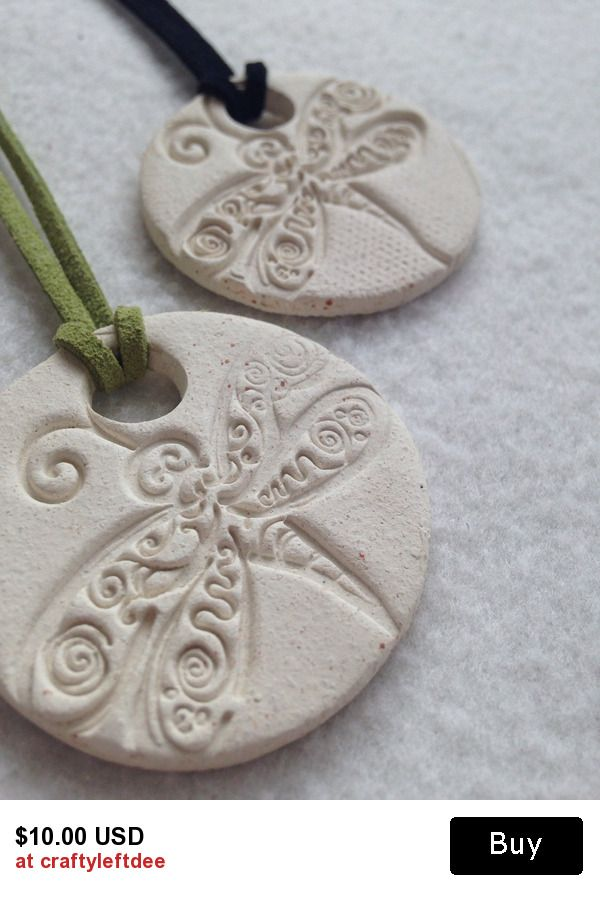 Essential Oils dragonfly diffuser necklace 1 3/4 inch buff clay disc Aromatherapy #triharmonyoilers #healthylifestyle $10